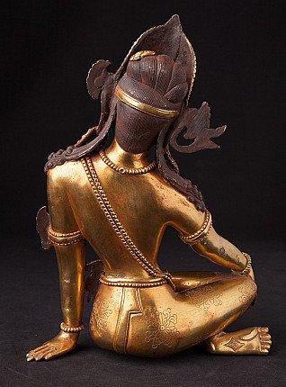 Nepali bronze Indra statue