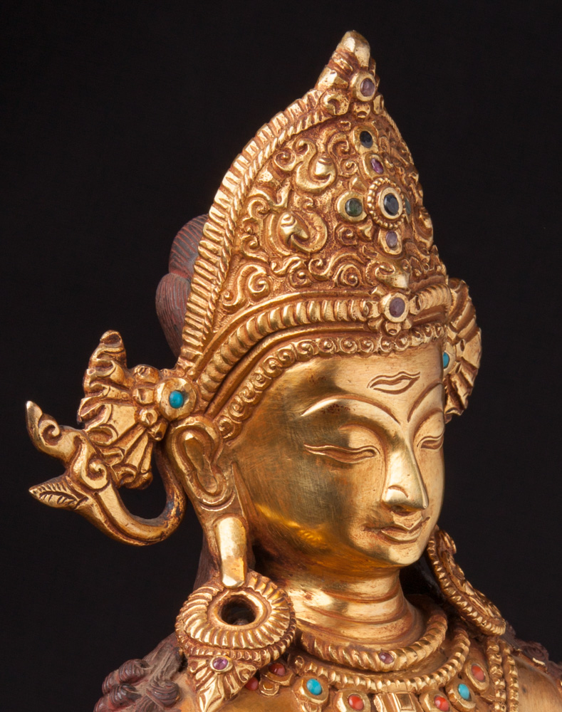 Nepali bronze Indra statue from Nepal made from Bronze