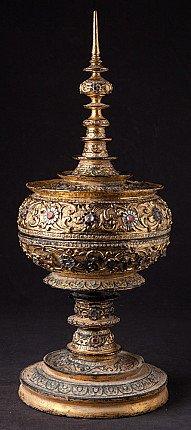 Antique gilded offering vessel