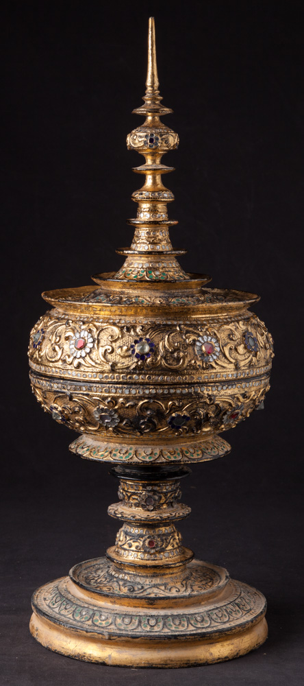 Antique gilded offering vessel from Burma