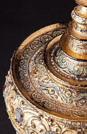 Antique gilded offering vessel