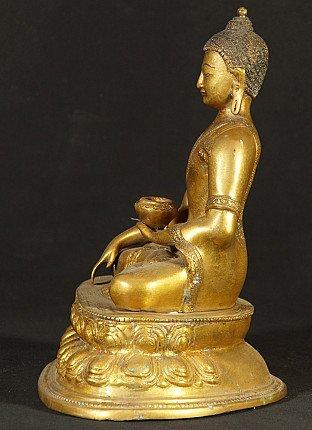 Nepali bronze Buddha statue