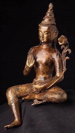 Alte bronze Lokeshor Figur