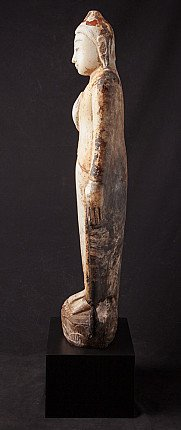 Bijzonder antiek albasten Boeddhabeeld