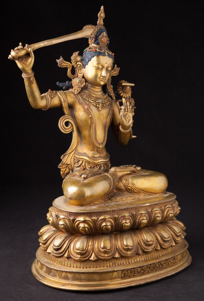 Nepali Manjushree statue from Nepal made from Bronze