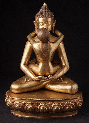 Large bronze Buddha Shakti statue