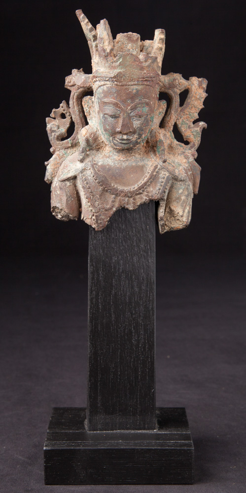 Antique Buddha head from Arakan Buddha from Burma