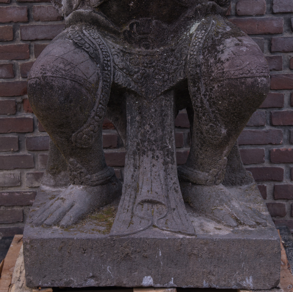 Large lavastone Garuda statue from Indonesia made from Lavastone
