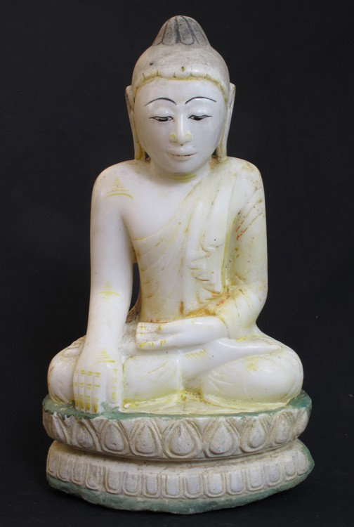 Antique Burmese Lotus Buddha from Burma