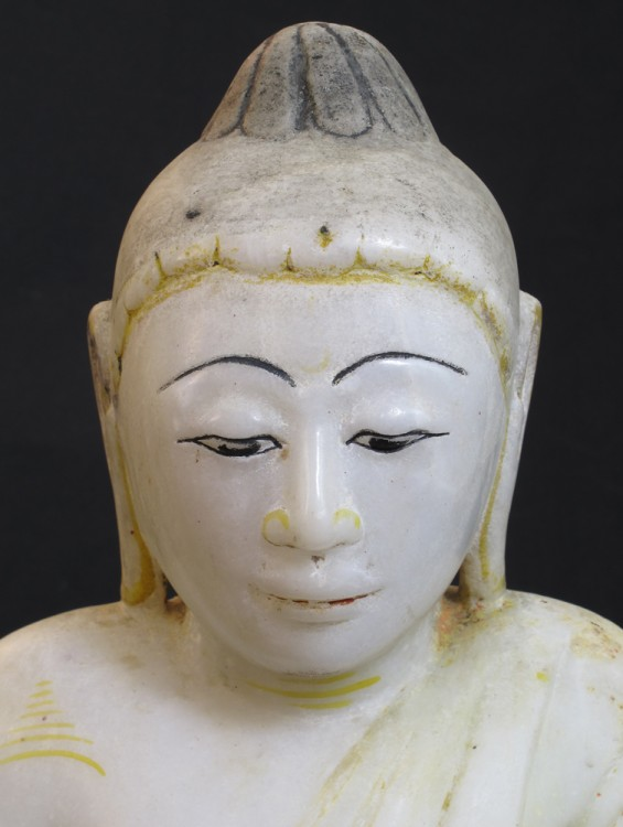 Antique Burmese Lotus Buddha from Burma made from Marble