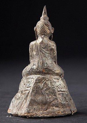Antique silverplated Buddha statue