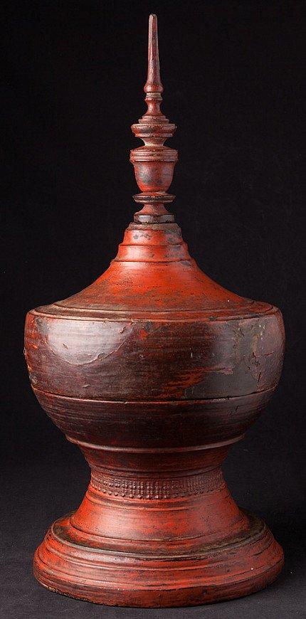 Antique wooden offering vessel