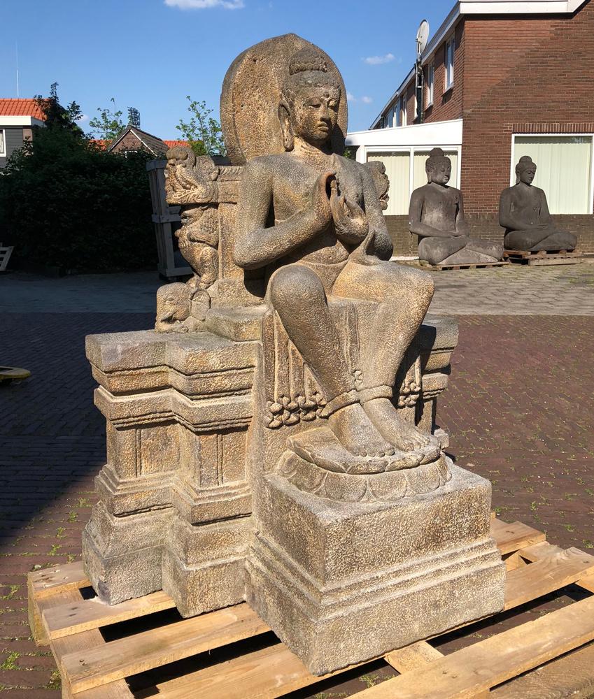 Old lavastone Buddha statue