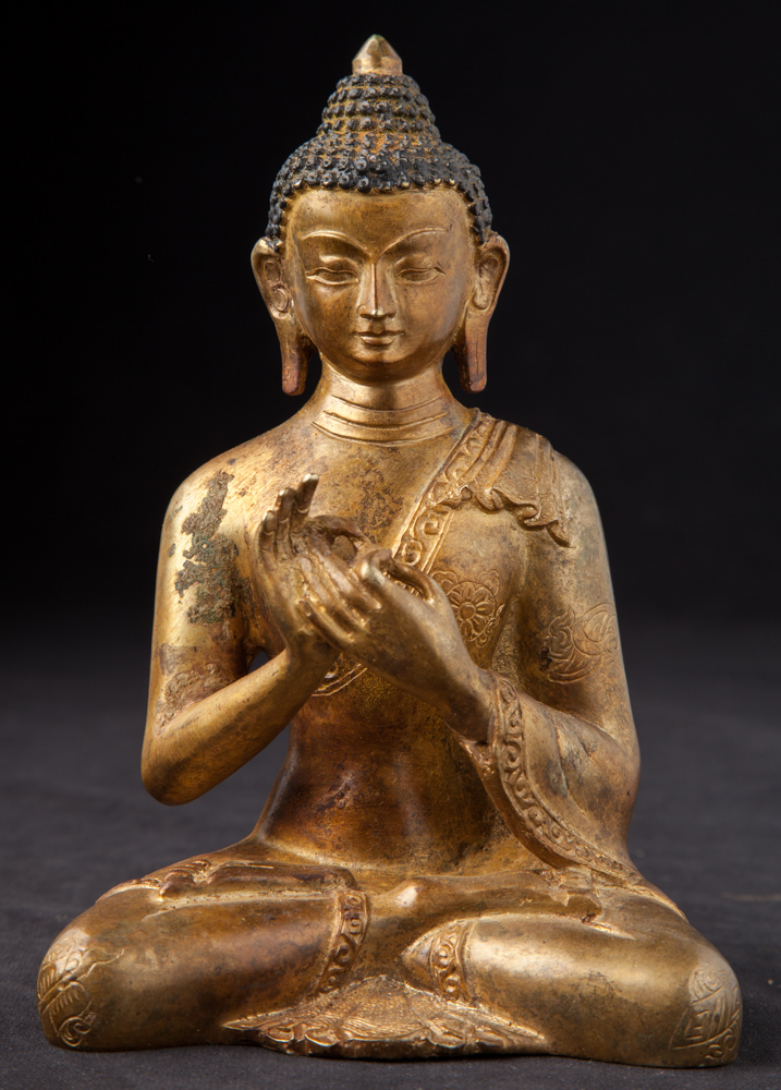 Old bronze Nepali Buddha statue from Nepal