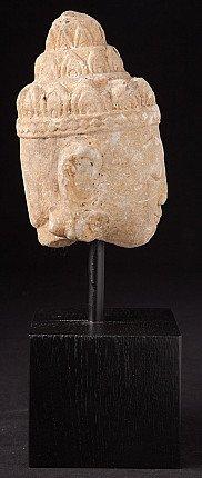 Antique alabaster Buddha head