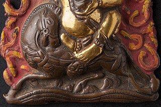 Old bronze Chhwas Kamini statue