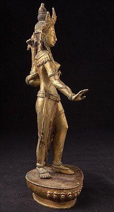 Old bronze Tara statue