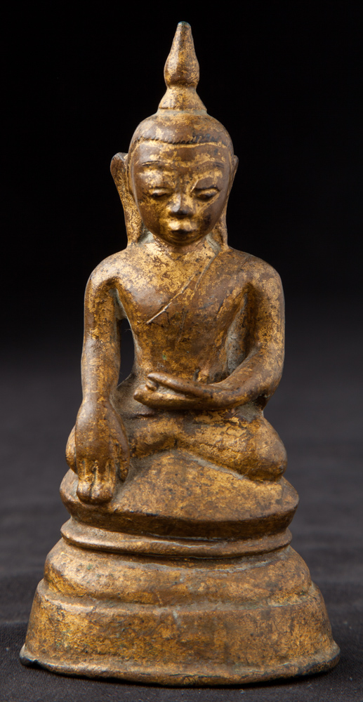 Antique bronze Ava period Buddha statue from Burma