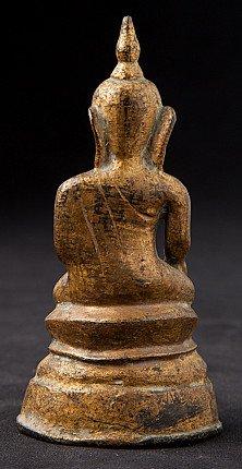 Antique bronze Ava period Buddha statue