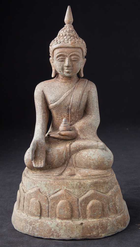 Old bronze Buddha statue from Burma