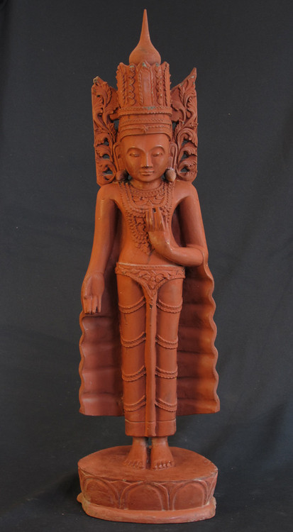 Old Jambupati Buddha from Burma made from Wood