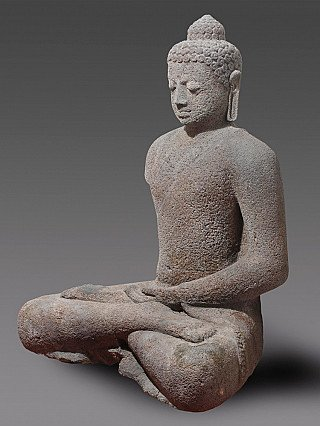 9e eeuwse Lavastenen Boeddhabeeld