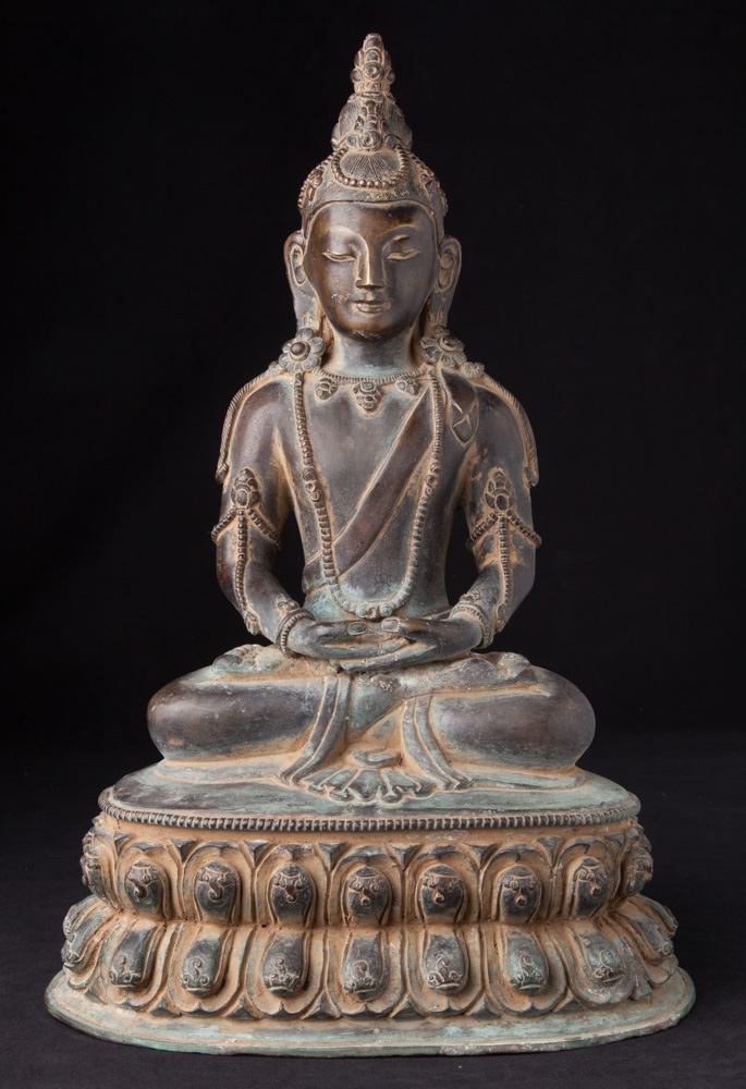 Old bronze Aparmita Buddha statue from Nepal