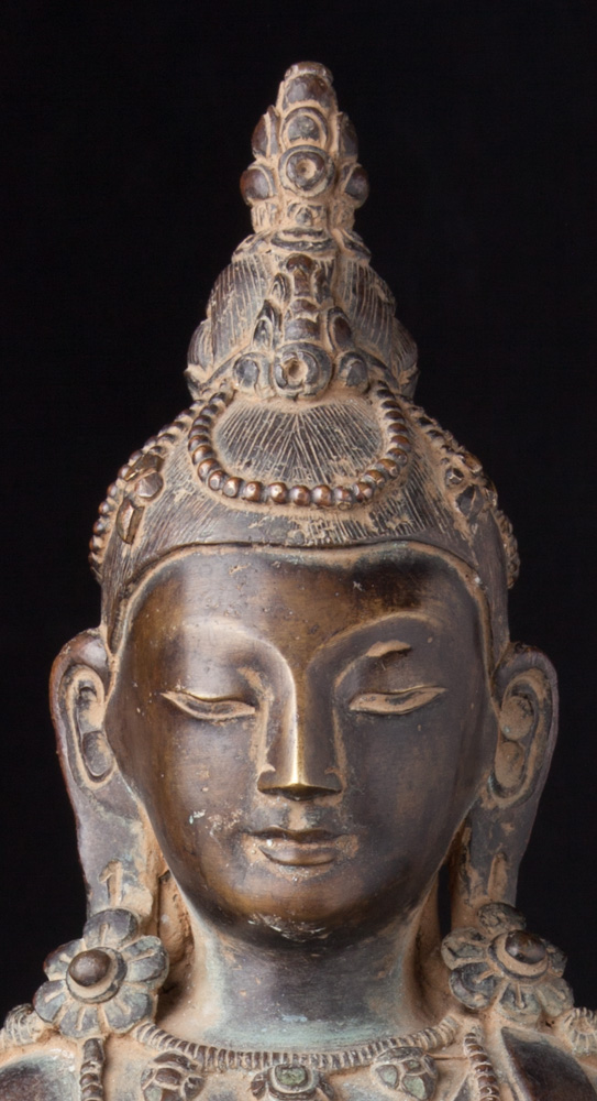 Old bronze Aparmita Buddha statue from Nepal made from Bronze