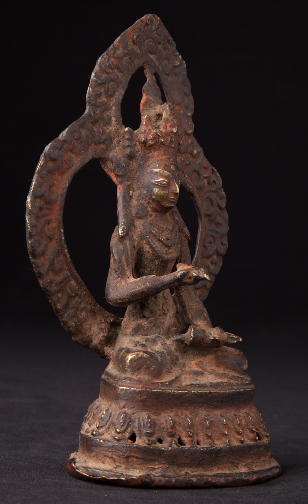 Antique bronze Vajrasattva statue from Nepal made from Bronze