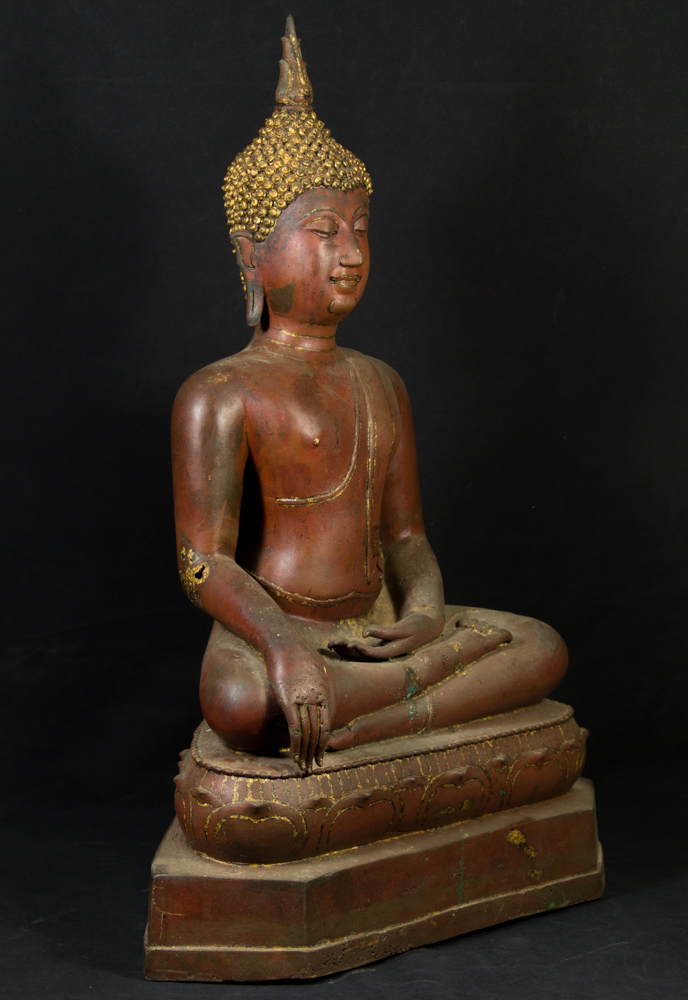 Large U-Thong Buddha statue from Thailand