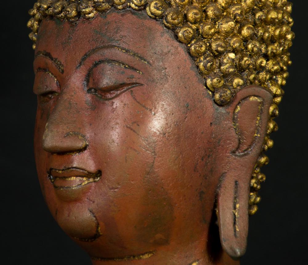 Old bronze Lanna Buddha statue
