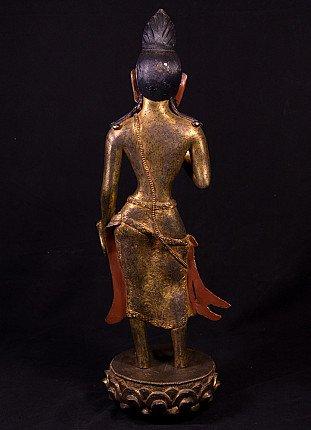 Antique bronze Bodhisattva statue
