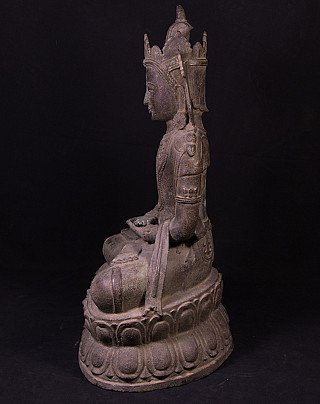Antique bronze Arakan Buddha statue