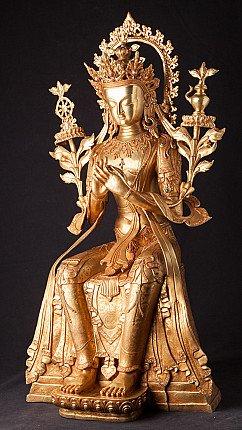 Bijzondere grote bronzen Maitreya Boeddha