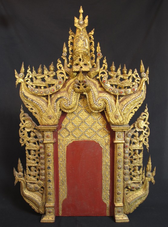 Antique temple panel from Burma