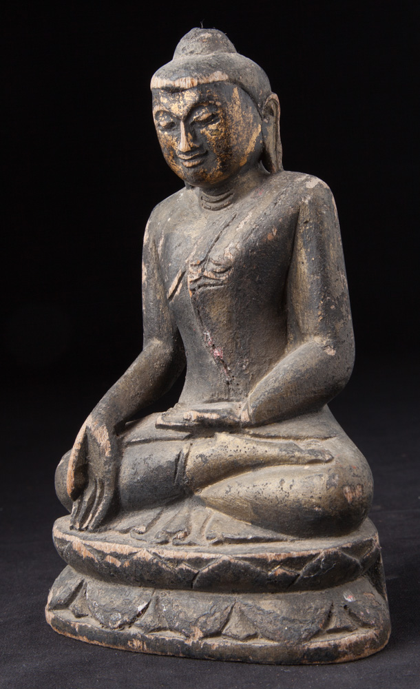 Small wooden Buddha statue from Burma made from Wood