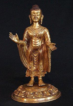 Oud Nepalees Boeddhabeeld