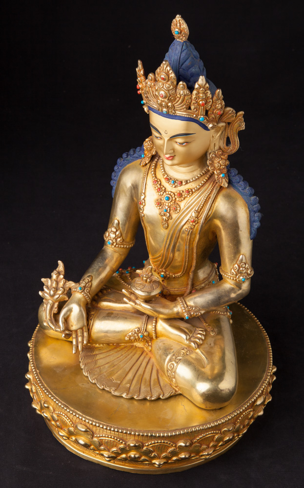 Newly made bronze Medicine Buddha statue from Nepal made from Bronze