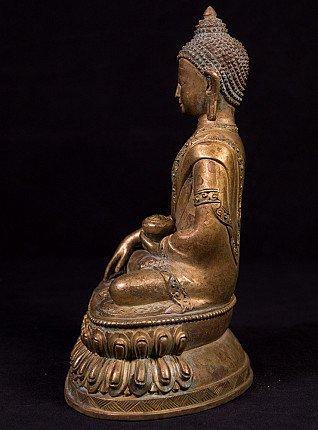 Alte bronze Nepal Buddha Figur