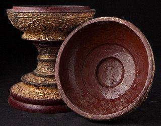 Antique gilded Burmese offering vessel