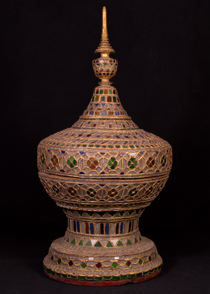 Antique Burmese offering vessel from Burma