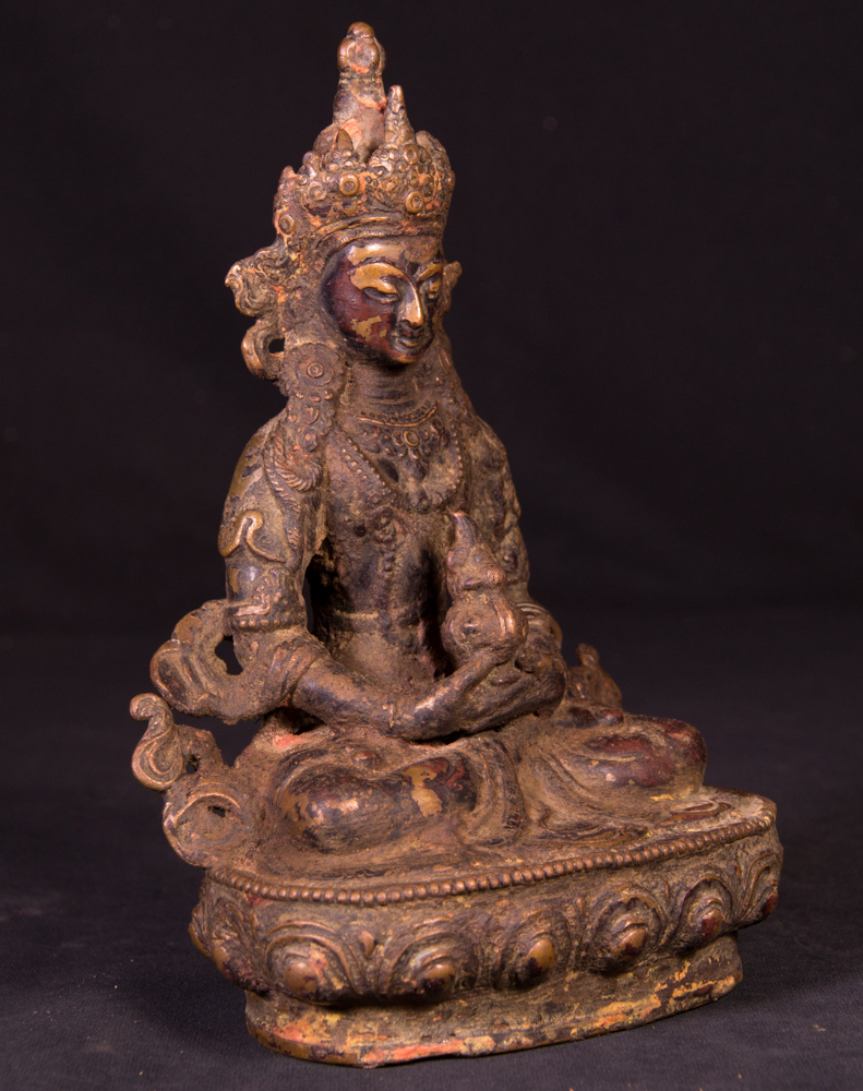 Old bronze Aparmita statue from Nepal made from Bronze