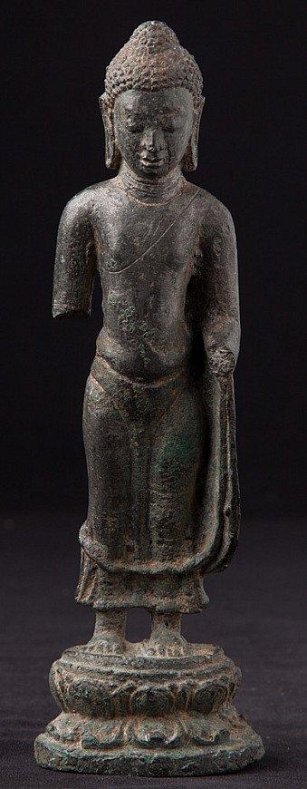 Große Original Bronze Pyu Buddha Figur