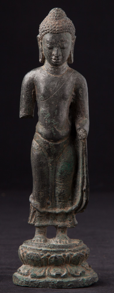 Large original bronze Pyu Buddha statue from Burma