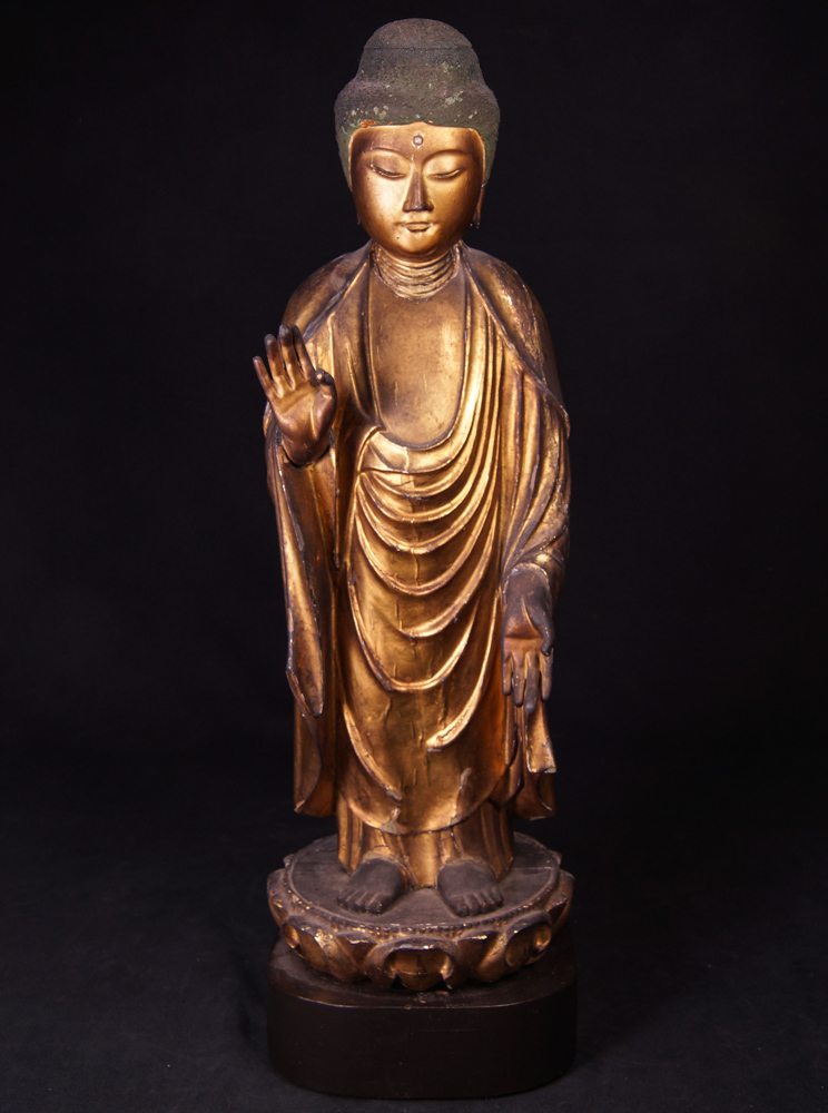 Antique japanese Buddha statue from Japan