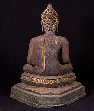 Antique bronze Thai Buddha statue