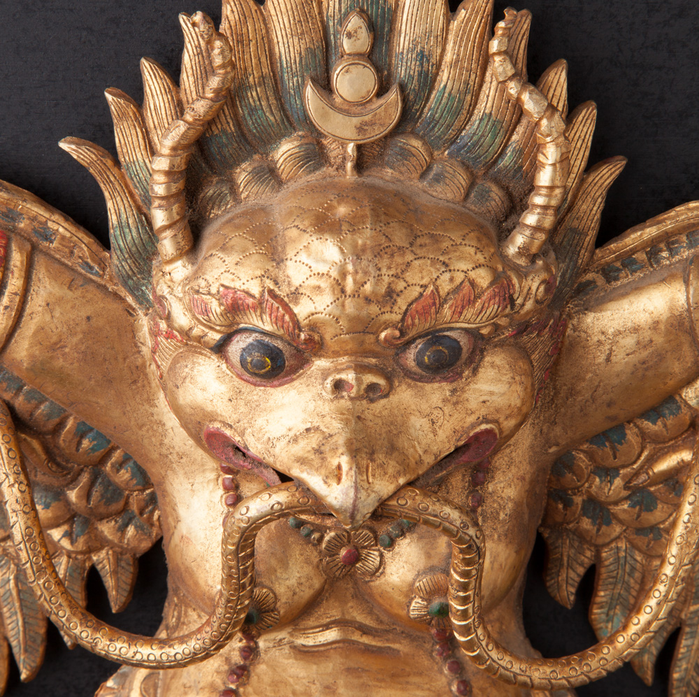 Copper Repousse Garuda bird from Nepal made from Copper Repousse