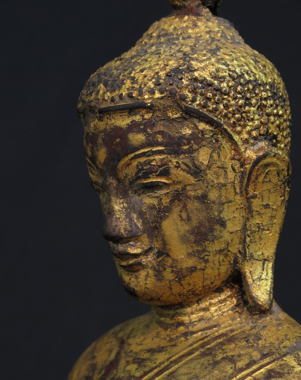 Antique Burmese Buddha from Burma made from Wood