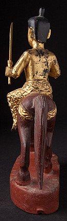 Antique Burmese Nat on horse