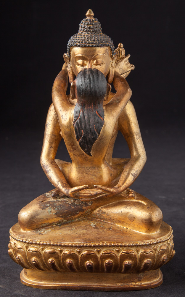 Old bronze Buddha - Shakti statue from Nepal